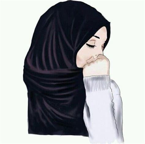 gambar hijab drawing  art muslim pinterest