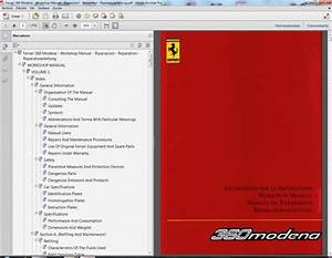 Ferrari 360 Modena -workshop Manual -riparazioni -reparation
