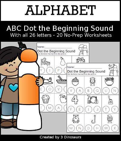 dinosaurs alphabet dot  beginning sound