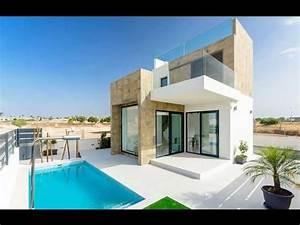 Modern design villas in Ciudad Quesada - YouTube  Modern