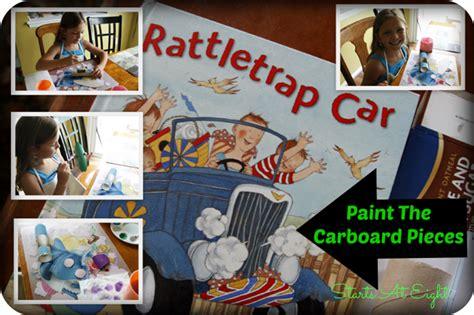 rattletrap car a book and a big idea rattletrap car craft snacks a