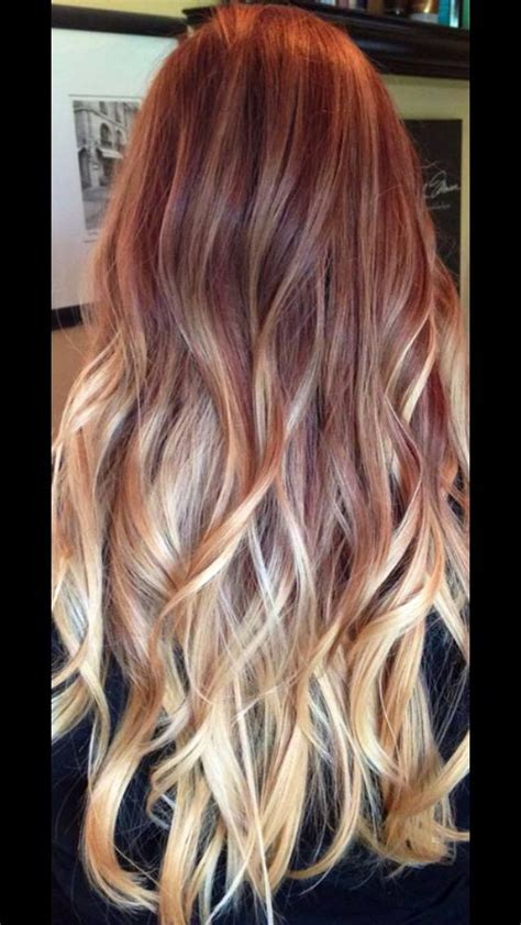 Red To Blonde Ombré Ombre Hair Blonde Red To Blonde