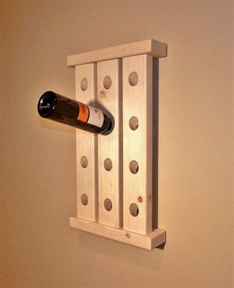 unfinished wood wine rack fun project easy