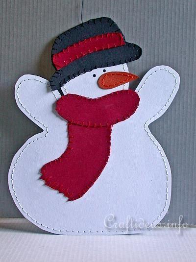 christmas  winter craft paper snowman decoration