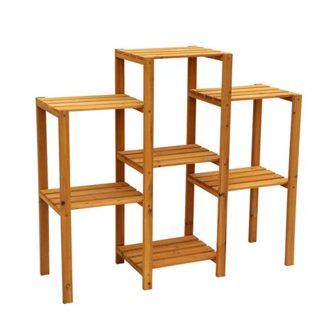 Wooden Patio Plant Stands by Shop Leisure Season 34 In Wood Plant Stand At
