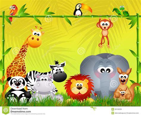 wild animals   jungle stock illustration image