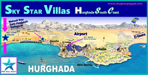 great map  locations  hotels  hurghada egypt