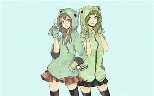 Vocaloid blue eyes skirts Megurine Luka green eyes green ...
