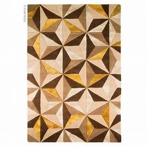 Tapis 160x230 Pas Cher : tapis laine fait main ocre scorpio flair rugs 90x150 ~ Dailycaller-alerts.com Idées de Décoration