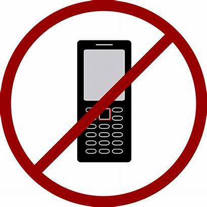 Cell Phone Cellphone Phones Clipart Allowed Clip