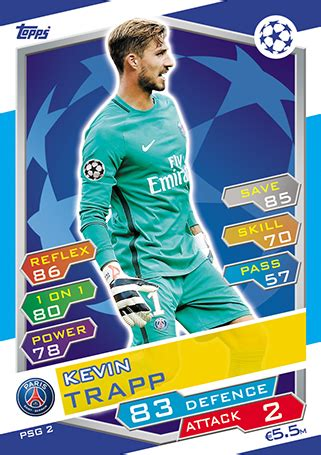 Kevin Trapp • Champions League 17 > PSG > footycards.com