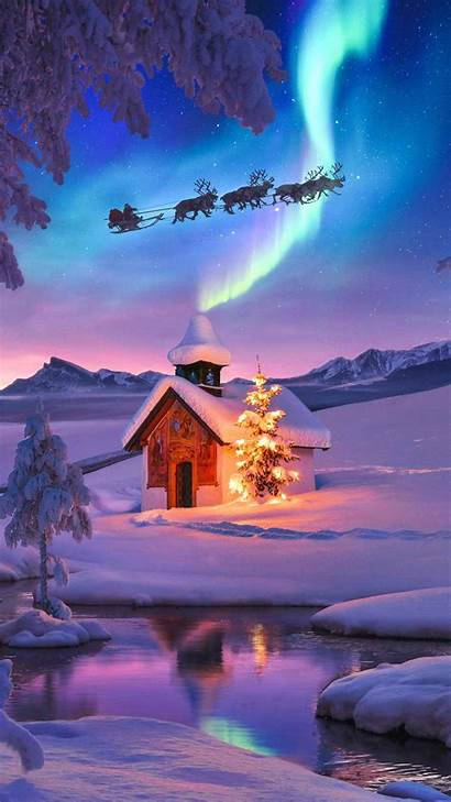Iphone Cabin Christmas February Iphones Nature Wallpapers