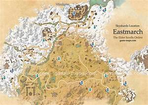 Eastmarch Skyshards Location Map - ESO game-maps com