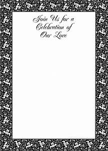 free printable party invitations black and white With black and white wedding invitations free download