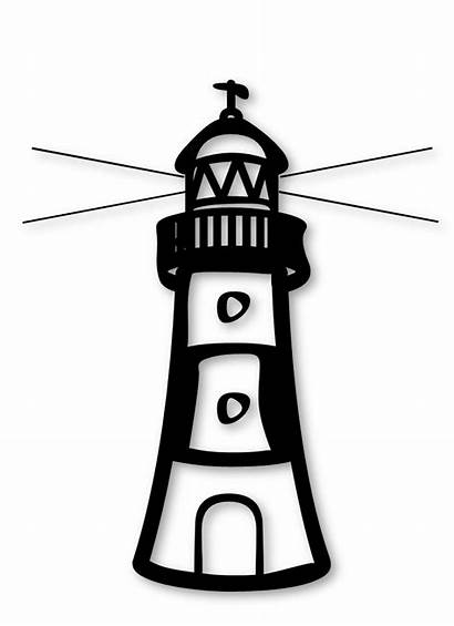 Clipart Lighthouse Coloring Transparent Cliparts Lighthouses Pages