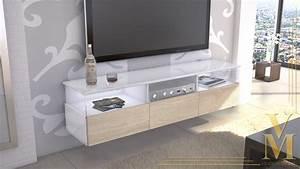 Tv Board Weiß Eiche : lowboard kommode tv board unterschrank almeria wei hochglanz naturt ne ebay ~ Buech-reservation.com Haus und Dekorationen