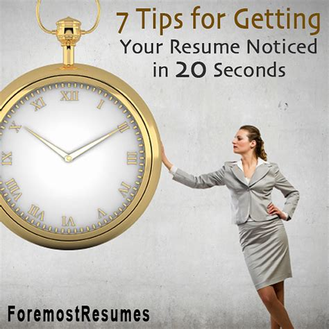 Resume 7 Seconds by 7 Tips To Get Your Resume Noticed