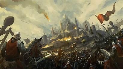Siege Castle Fantasy Medieval Battle Knight Army