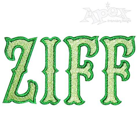 tiffany machine embroidery fonts