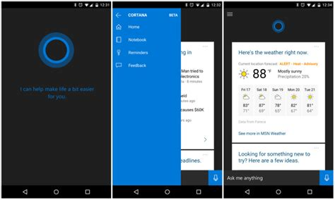 aa app for android cortana for android leaks out ahead of official launch
