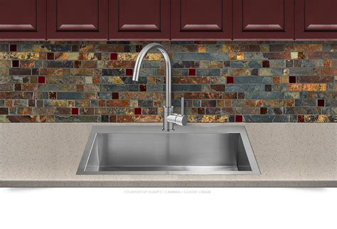 mosaic tile kitchen backsplash gold slate burgundy glass mosaic backsplash tile