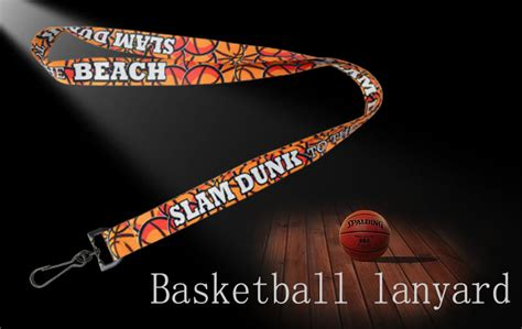 basketball lanyards full color heat transfer printing