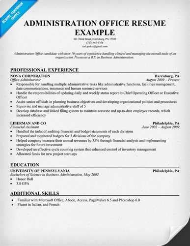 resume chief administrative officer 28 images