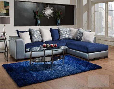 classy  royal blue living room   royal blue living