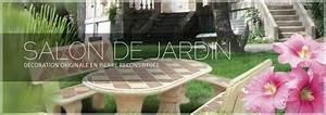 Salon De Jardin En Pierre : salon de jardin en pierre aublet d co jardin ~ Teatrodelosmanantiales.com Idées de Décoration