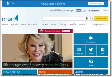 Msn Home Page : How Do I Get The Old Msn.com Homepage Back?
