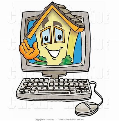 Cartoon Clipart Computer Clip Screen Computers Inside
