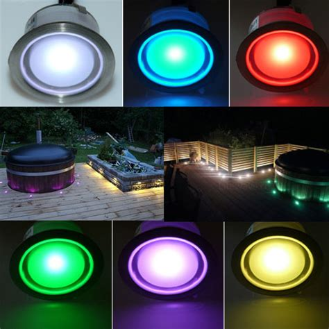 color changing led plinth and deck light led plinth light
