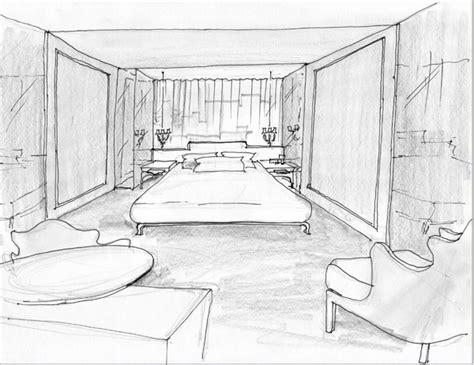 Modrian Hotelroom Interior Sketch Trendland