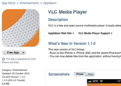 vlc for iphone pulled from app store now available on cydia