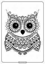Coloring Owl Printables Mandala Cactus Prickly Indian Pdf Coloringoo sketch template