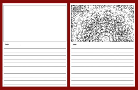 journal pages template coloring book templates done for you coloring book templates