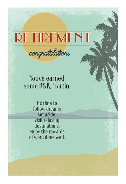 retirement cards   island