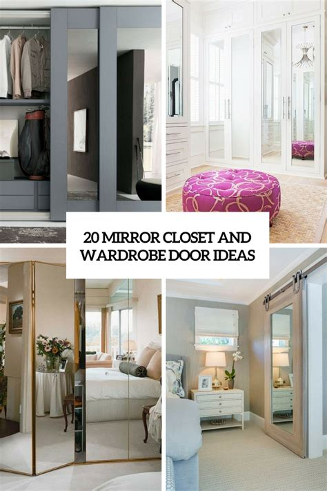 Ideas For Mirrored Closet Doors by 20 Mirror Closet And Wardrobe Doors Ideas Shelterness