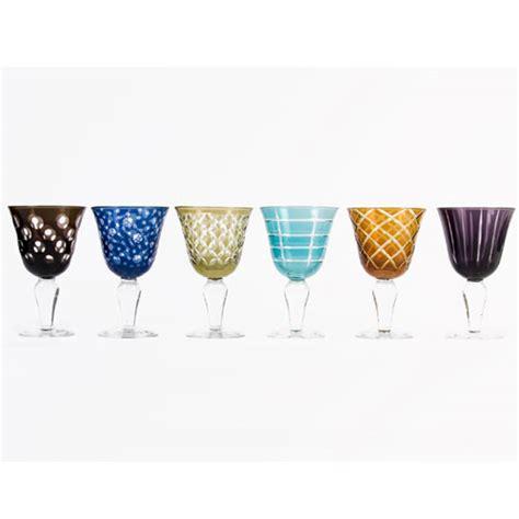 verre 224 vin grav 233 s color 233 s teint 233 s masse par 6 ravenne pols potten d tous les produits