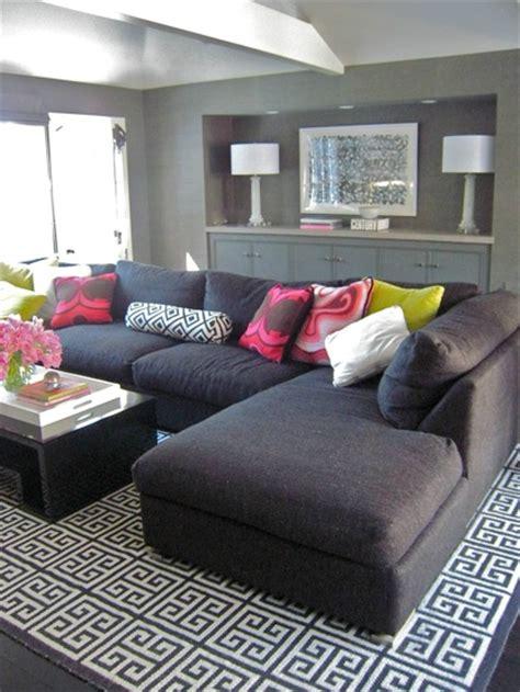 gray sectional sofa contemporary living room zoldan