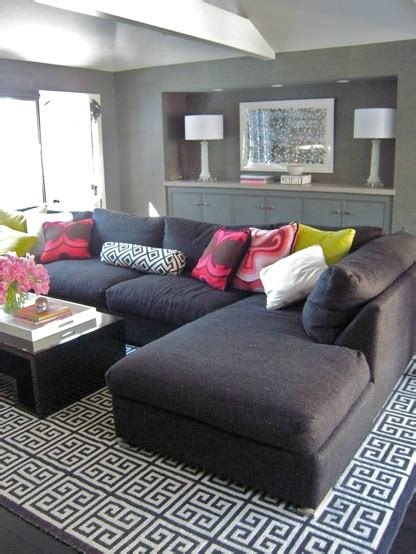Modern Rugs La by Gray Sectional Sofa Contemporary Living Room Zoldan