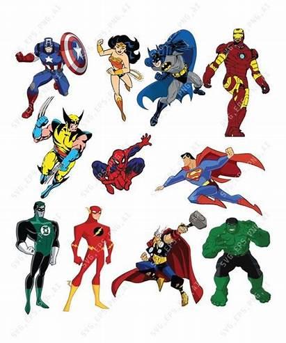 Marvel Superhero Clipart Justice League Symbols Stan