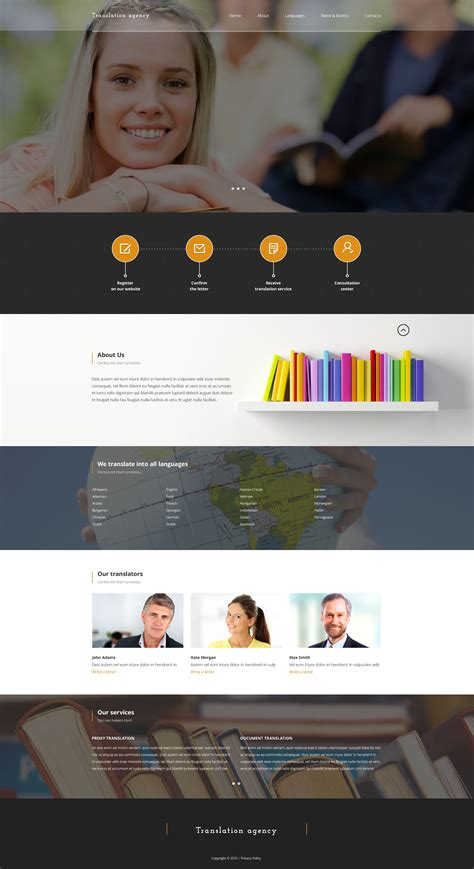 translate bureau translation bureau responsive website template 53150