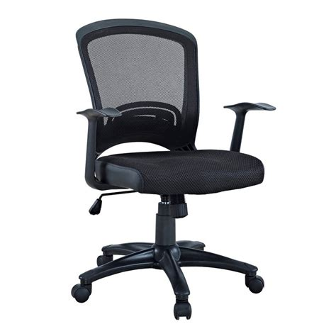 shop modway pulse black mesh task office chair at lowes