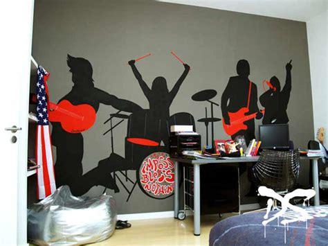 d馗oration murale chambre ado décoration chambre rock
