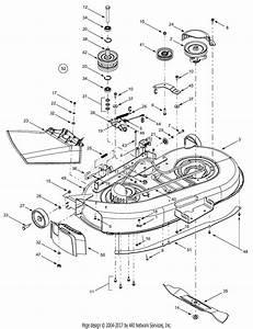 Troy Bilt 13ax609g063  2001  Parts Diagram For Deck Assembly