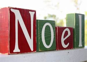 custom christmas blocks noel sign whimsical shelf With noel wooden block letters