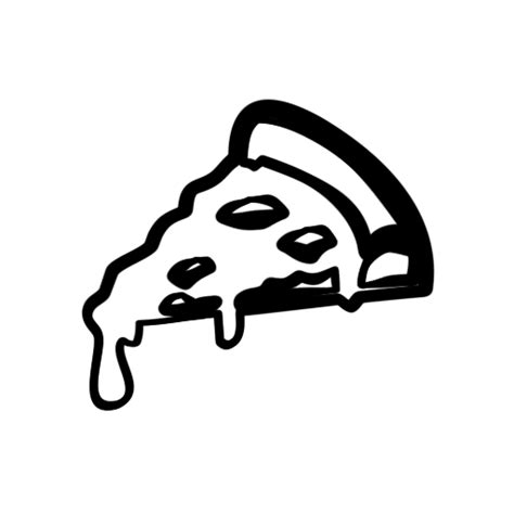 pizza clipart black and white pizza icon clipart 14