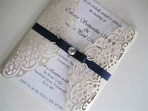 wedding invitation laser cut lattice lace insert With cheap wedding invitations uk ebay