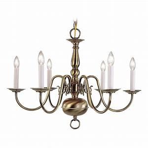 Livex lighting williamsburg light antique brass